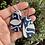 Thumbnail: Glitter Blue and White Hoop Earrings