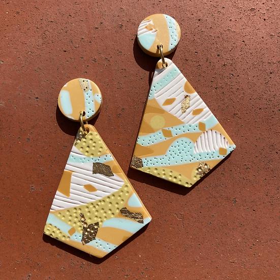 Sea & Sand Diamond Drop Earrings