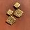 Thumbnail: Gold Shell Drop Earrings