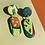 Thumbnail: 80s Lozenge Drop Earrings - Green