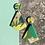 Thumbnail: Tropical Leaf Diamond Drop Earrings