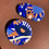 Thumbnail: Festival in Blue Disc Brooch