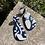 Thumbnail: Glitter Blue & White Statement Earrings