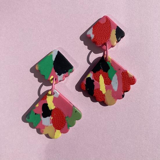 Tutti Frutti Shell Drop Earrings