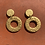 Thumbnail: Gold Donut Earrings