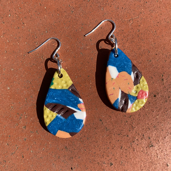 Floral Camo Small Drop Earrings