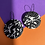 Thumbnail: Monochrome Abstract Disc Earrings