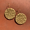 Thumbnail: Gold Disc Earrings