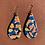 Thumbnail: Floral Camo Large Drop Earrings