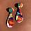 Thumbnail: 80s Drop Earrings - Orange