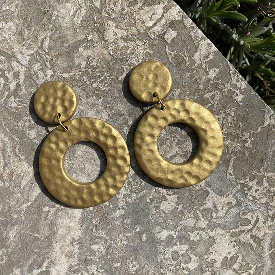 Gold Donut Earrings