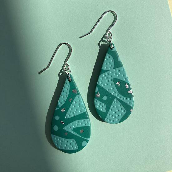 Turquoise Medium Drop Earrings