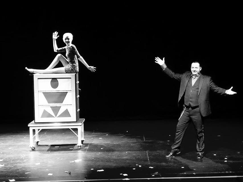 Assisting Michael Diamond in his illusion show