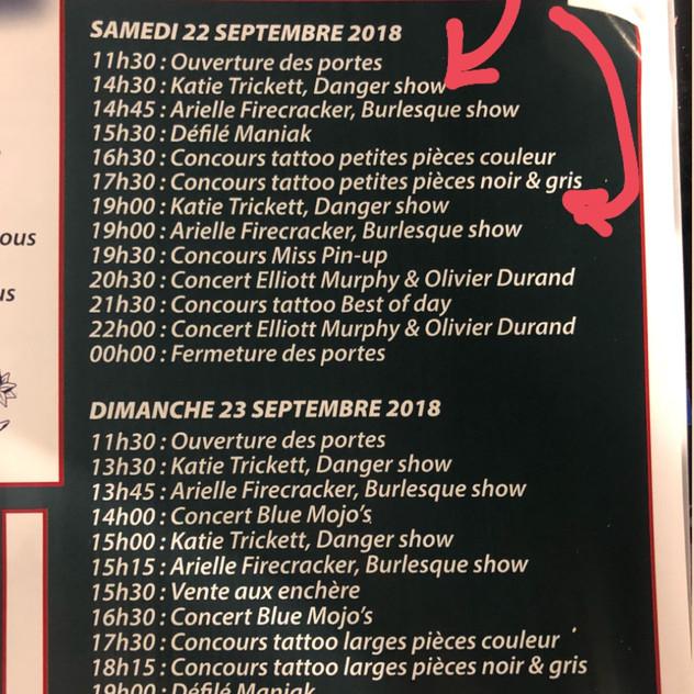 Showtime Schedule