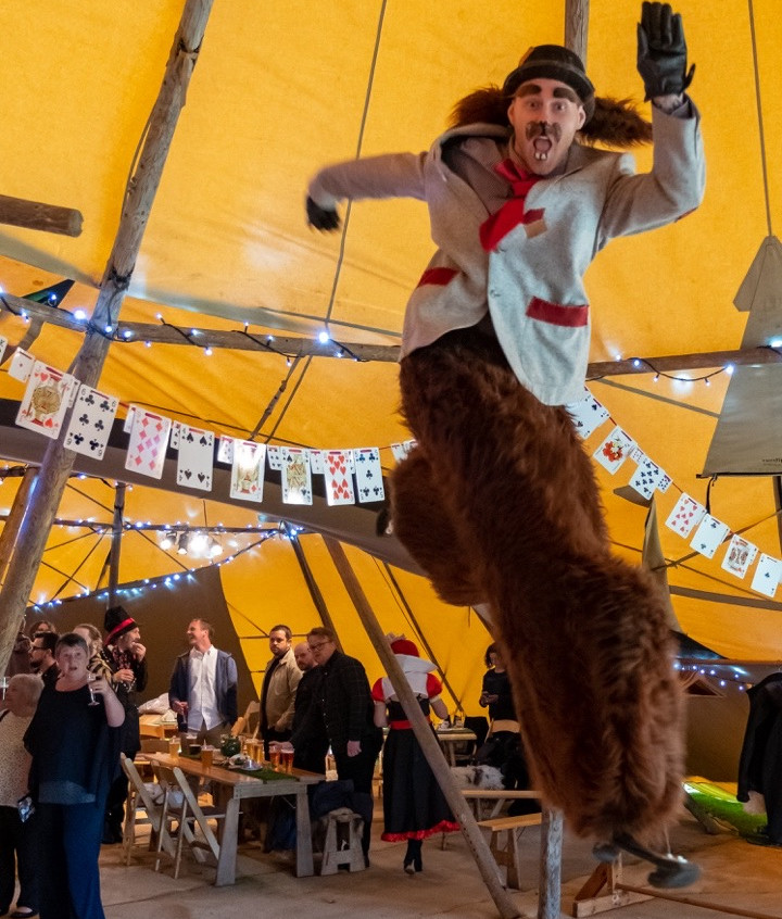 Bouncing mad March hare