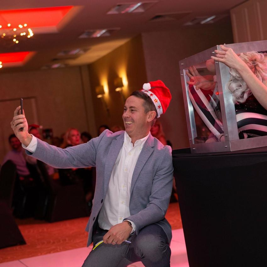 obligatory box selfie