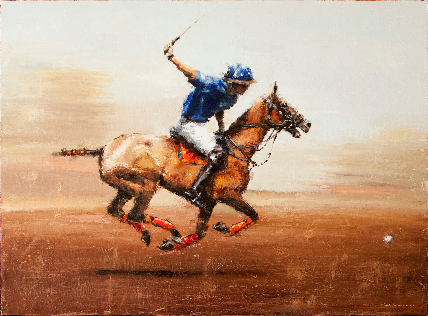 POLO. GALLOP TO VICTORY. 54x73 cm