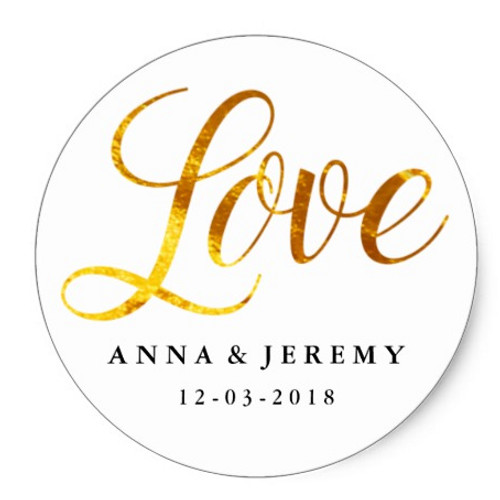 24 X LOVE Script Sticker (gold)