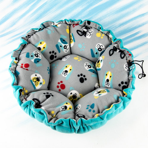 Large Fleece Dog Bed Grey Background