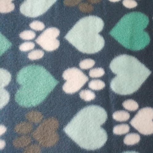Small Fleece Dog Bed Blue Background