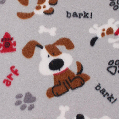 Small Fleece Dog Bed Grey Background