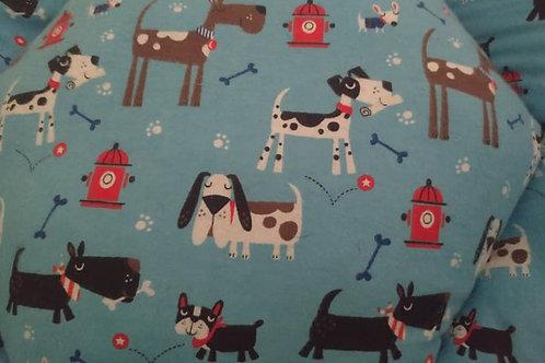 Large Fleece Dog Bed Blue Background