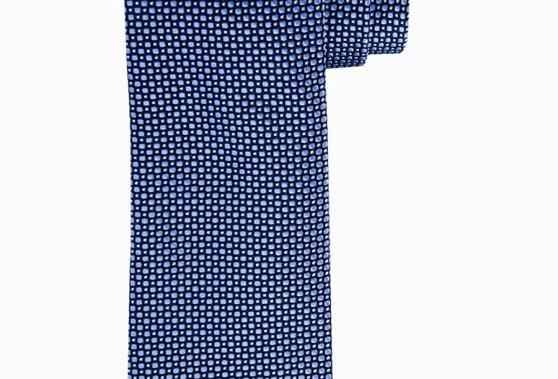 Синий шелковый галстук