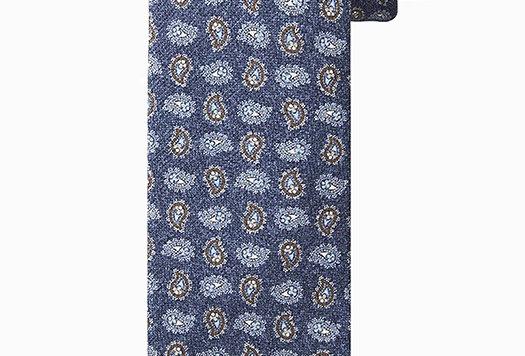 Синий классический шелковый галстук