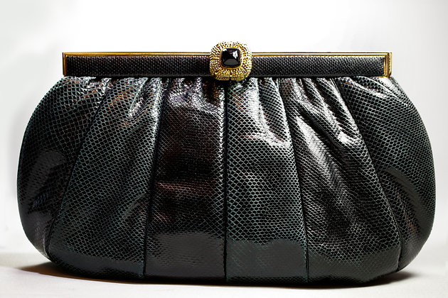 Exquisite Snakeskin Two Color Bag