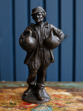 Bronze Goose Man Sculpture