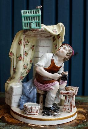 Meissen Porcelain Portraying Shoe Making Figurine