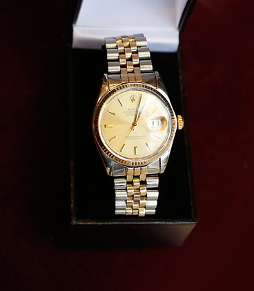 Vintage 14K Oyster Perpetual Datejust Gold Rolex Watch