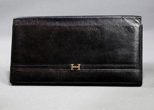 Hermes Black HW Palladium Wallet
