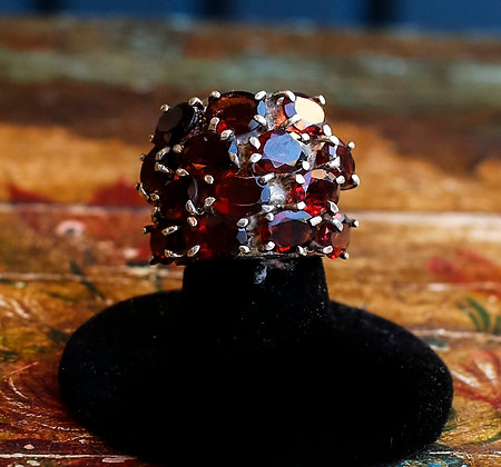 Beautiful Sterling Ring with Garnets