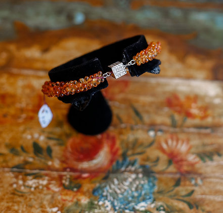 Citrine Bracelet with 18K Gold and 1.2 Diamonds