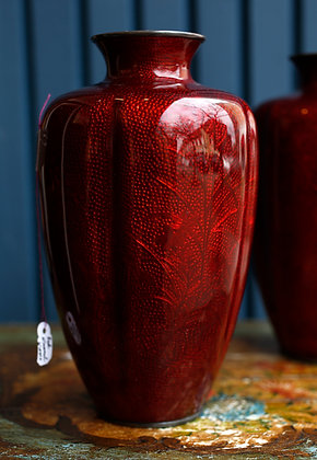 Cloisonné Red Enamel Vase