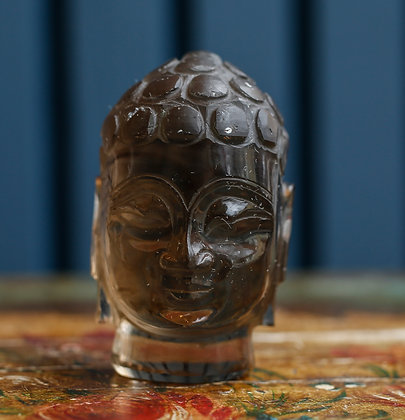 Indonesian Glass Teaching Buddha Head