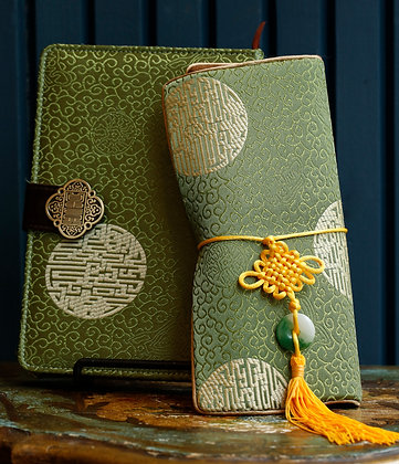 Traditional Chinese Notebook and Jewelry Case