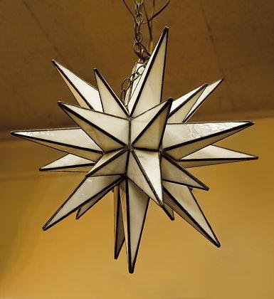 Handmade Milk Glass Star Chandelier