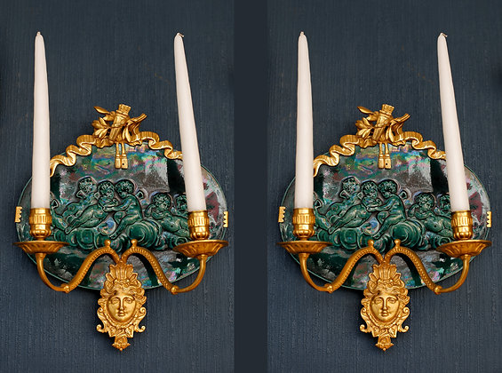 Pair of unusual Candle Wall Sconces