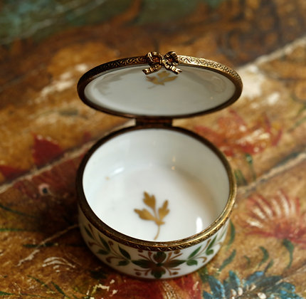 Precious Small Limoges Box - Hand Painted