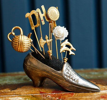Sterling Vintage Shoe with Pins