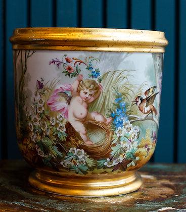 Hand Painted Antique Flower Pots