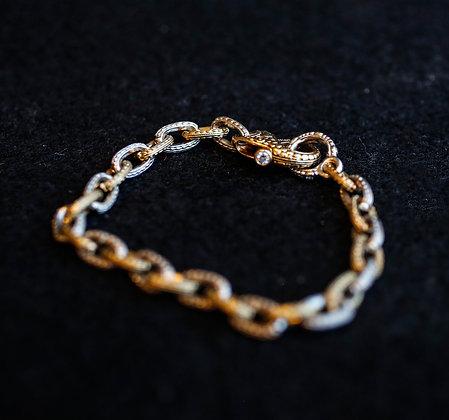 Alex Sepkus Platinum Gold Vintage Bracelet