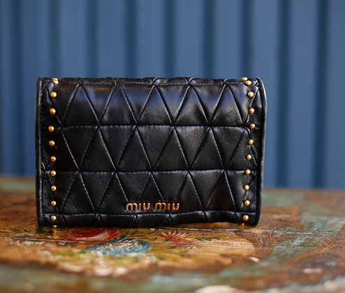 Miu Miu Studded Lambskin Wallet