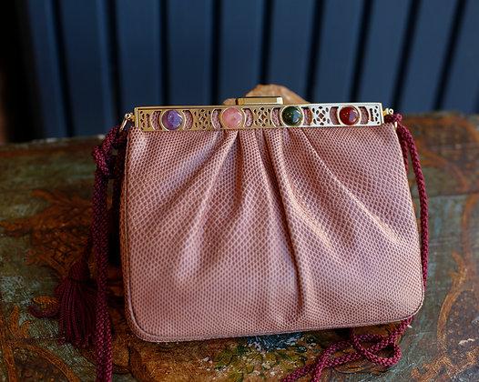Judith Leiber Mauve Lizzard Bag