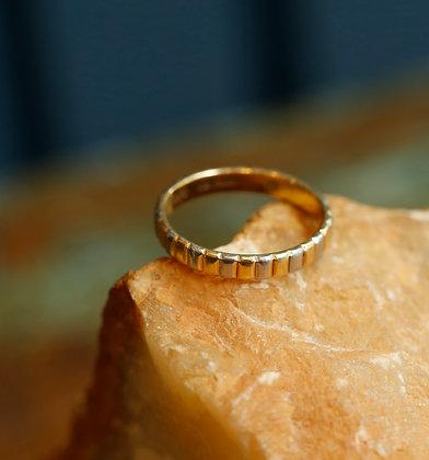 18K  / Platinum Tricolor Gold Ring, Vintage Ring