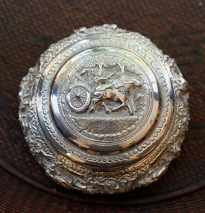 Hand hammered Burmese Sterling Vintage Box