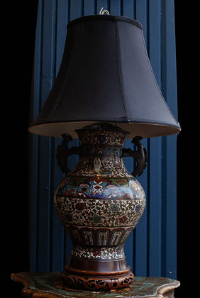 Cloisonné Early 1900's Table Lamp