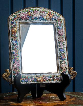 Antique Pietra Dura Handmade Italian Frame / Mirror